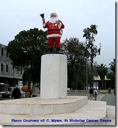 Santa Statue in front of church in Demre