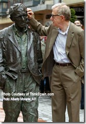 Woody Allen statue, Oviedo, Photo: Alberto Morante, AP