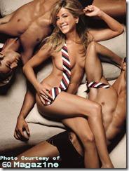 Jennifer Aniston in Brooks Brothers tie