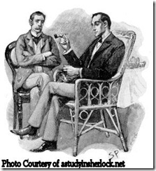 Holmes and Watson, illustration by sidney paget for 'the greek interpreter', strand magazine, september 1893