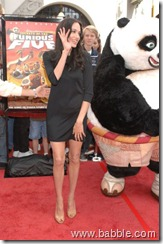 Angelina Jolie with Panda
