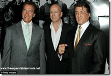 Schwarzenegger, Stallone and Willis