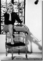 Monroe in Ferragamo heels