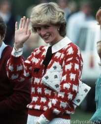 Princess Diana Sheep Cardigan