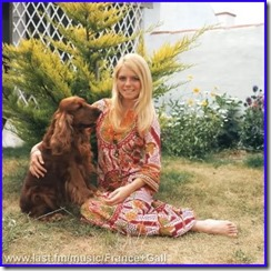 France Gall with her Spaniel