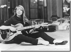 Francoise Hardy with guitar