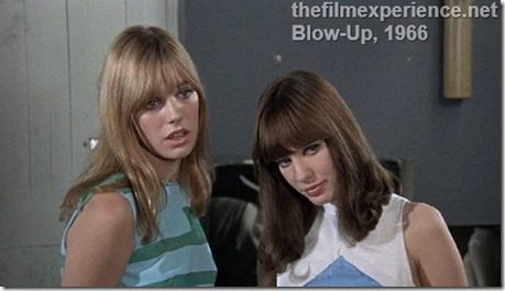 Gillian Hills and Jane Birkin in Blowup