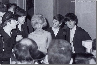Sylvie Vartan with Beatles 1963