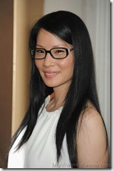 Lucy Liu in glasses