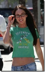 Megan Fox in glasses