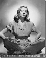 Lauren Bacall espadrilles