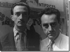 Salvador Dali and Man Ray, photographed in Paris by Carl van Vechten, June 16, 1934