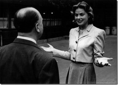 Ingrid Bergman & Alfred Hitchcock