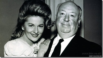 Joan Fontaine and Alfred Hitchcock