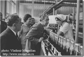 Breznev in Pepsi USSR Plant