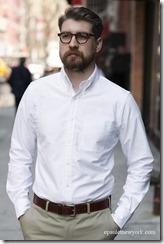 bd collar oxford white
