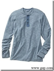 Three-button henley