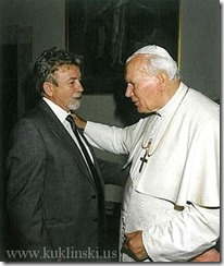 Ryszard Kuklinski and Pope John Paul