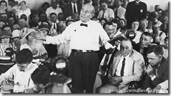 William Jennings Bryan speaking during the Scopes Trial