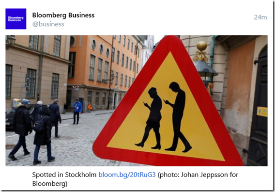 New road sign in Stockholm