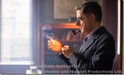Rowan Atkinson as Inspector Maigret. Photograph: Colin Hutton/ITV/PR Image/Ealing Studios and Maigret Productions Ltd