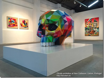 Okuda exhibition at New Coliseum, Lisbon, Portugal