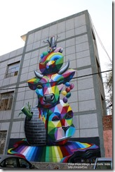 Okuda in Haus Khas Village. New Delhi. India