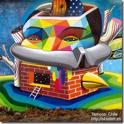 Okuda in Temuco. Chile