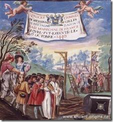 The execution of Gilles de Rais