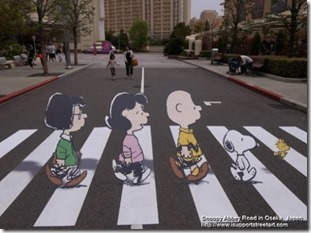 Snoopy Abbey Road in Osaka