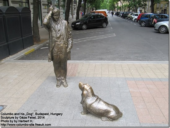 Columbo statue in Budapest