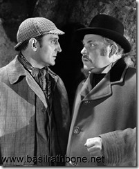 Sherlock Holmes and Dr.Watson Rathbone and Bruce