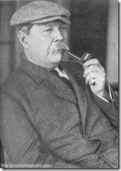 Conan Doyle with pipe
