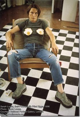 Sarah Lucas - Self-Portrait with Fried Eggs