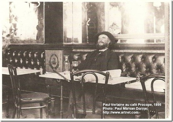 Paul Verlaine in Cafe Procope