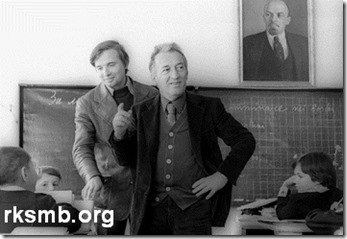 Roradi visits Soviet school