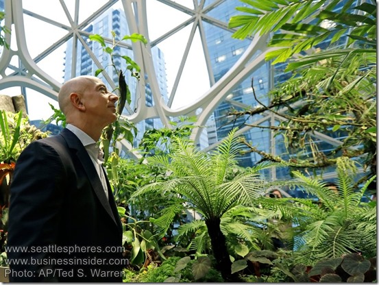 Amazon Spheres Bezos