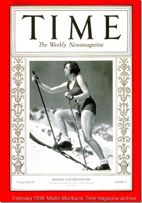 Leni Riefenstahl Time Magazine 1936