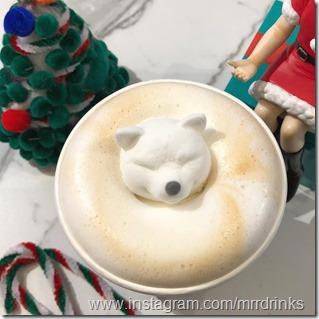 Shiba Inu latte art 2