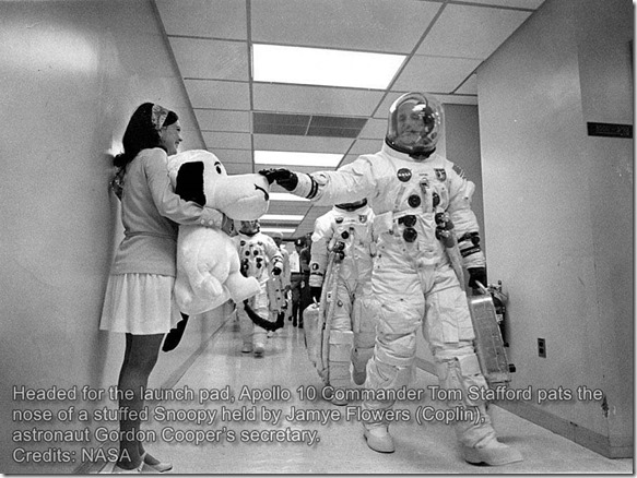 Tom Stafford & Snoopy. Apollo10