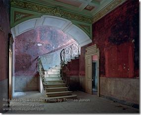 Thomas Jorion Red Stairs Switzerland