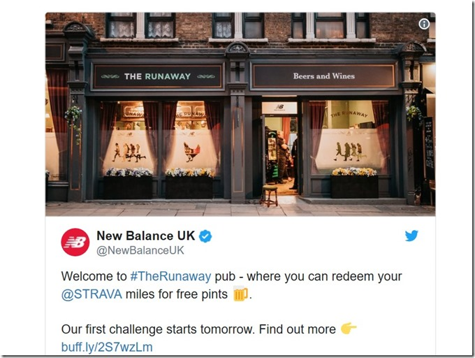 The Runaway - New Balance London pub