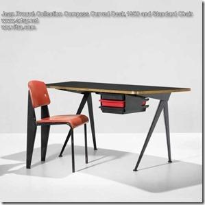 Jean Prouvé Curved Desk Compass 1950