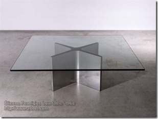 Etienne Fermigier, low table, 1968