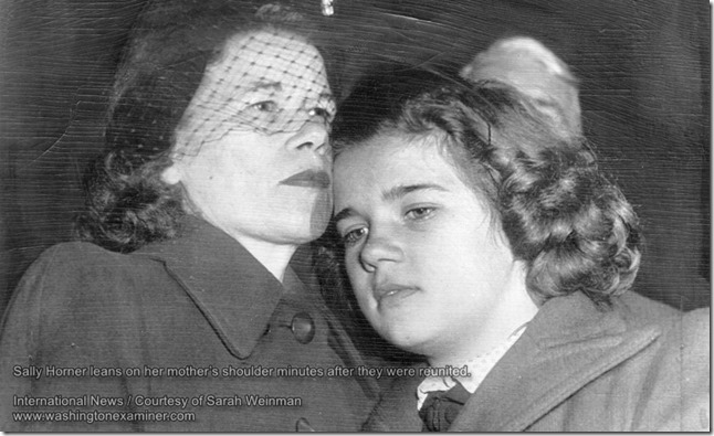 Sally Horner with her mother