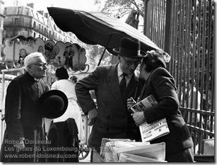 Robert Doisneau - Les grilles du Luxembourg