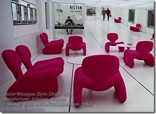 Olivier Mourgue Djinn chair. 2001 A Space Odyssey