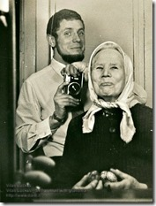 Vitas Luckus - Self-portrait with grandma