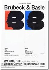 Milton Glaser Brubeck & Basie poster