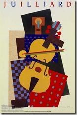 Milton Glaser Cubist Violin poster